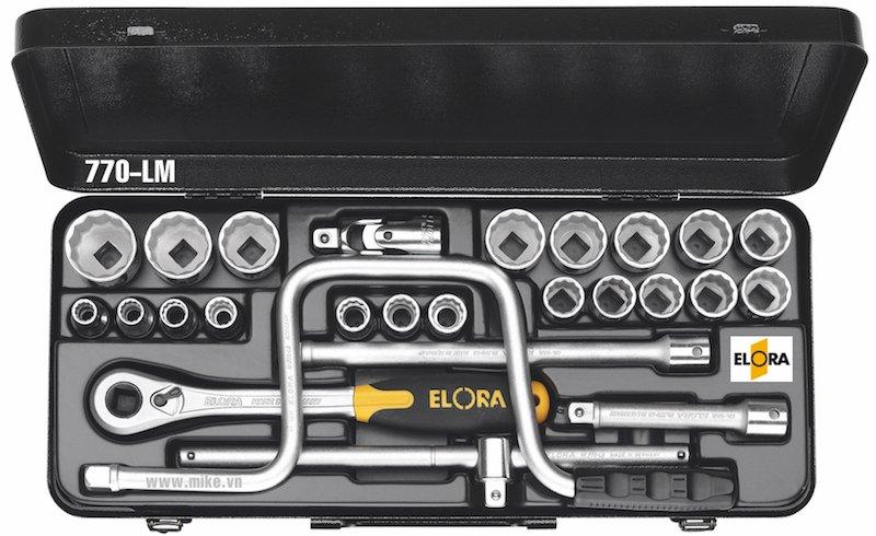 Bộ tuýp hệ mét 26 món ELORA 770-LMU, từ 10 - 32mm, 1/2 inch