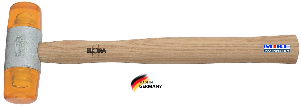 Búa 2 đầu nhựa 40mm ELORA 1660-40, Plastic hammer 40mm.