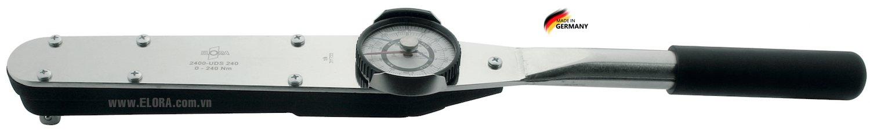 Cờ lê lực mặt đồng hồ 280-1400 N.m, đầu vuông 1 inch - ELORA 2400-UDS1400