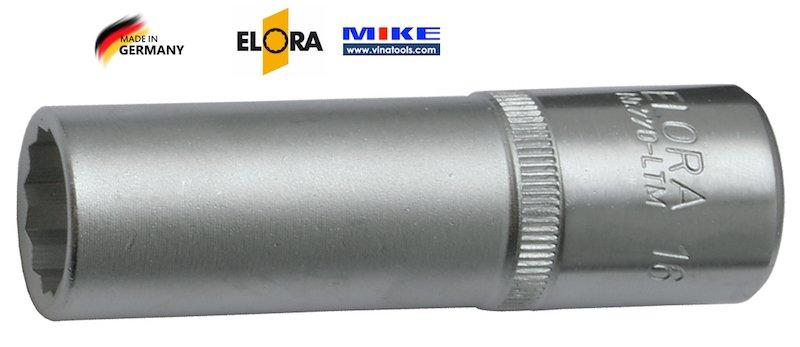 """Đầu tuýp hệ inch ELORA 770-LTA, vuông 1/2"""", socket 12 cạnh từ 1/2""""-1.1/16"""""""