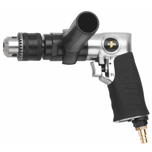 Máy khoan 13mm khí nén cầm tay, tốc độc không tải 750 rpm.Sử dụng nguồn dẫn động bằng khí nén, đường kính khoan max 13mm. Tốc độ không tài 750 vòng/phút. Đường kính mũi khoan lớn nhấtØ13mm. Độ ồn 87 dB. Áp suất khí vận hành 6.5 bar. ELORA Germany.