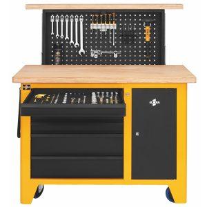 Bàn nguội di động kết hợp tủ đồ nghề ELORA 1820-LOT. size 1200x550x920mm.