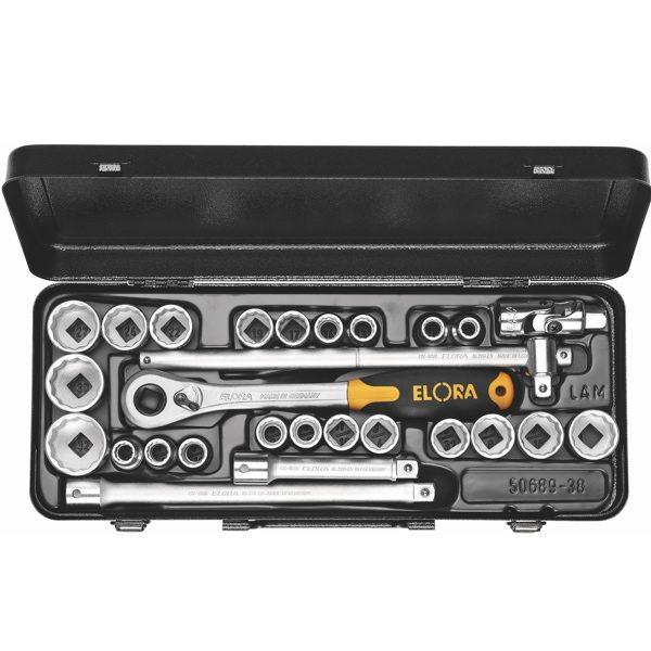 Bộ tuýp đa năng 10-32mm ELORA 770-OKLAMU, 1/2 inch, 12 pts, hệ mét và inch