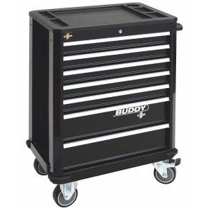 Tủ dụng cụ 7 ngăn BUDDY, màu đen, tủ không bao gồm dụng cụ 1210-LOT