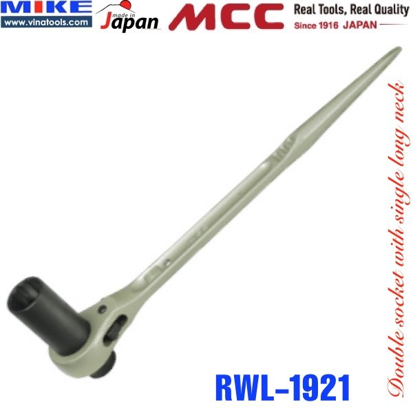 Cờ lê đuôi chuột 19x21mm RWL-1921, 1 tuýp dài, 1 tuýp ngắn MCC Japan.