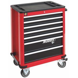 Tủ dụng cụ đồ nghể 7 ngăn BUDDY màu đỏ ELORA.