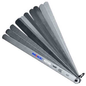 437205 Thước căn lá piston 13 lá 200mm, Inox 0.05-1.00mm. Piston Feeler Gauge Set.