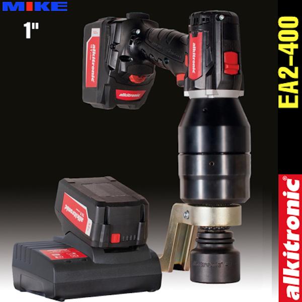 Bộ nhân lực dùng pin EA2-400, 2 cấp tốc độ, lực xiết 500-4100N.m. Alkitronic Germany.