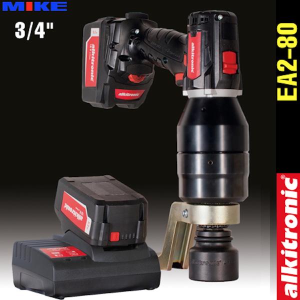 Cờ lê nhân lực dùng pin EA2-80, 2 cấp tốc độ, momen 115-860N.m. Alkitronic Germany
