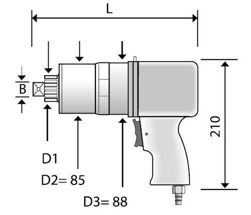 Bản vẽ kích thước bộ nhân lực bằng khí nén CLS Series - Alkitronic