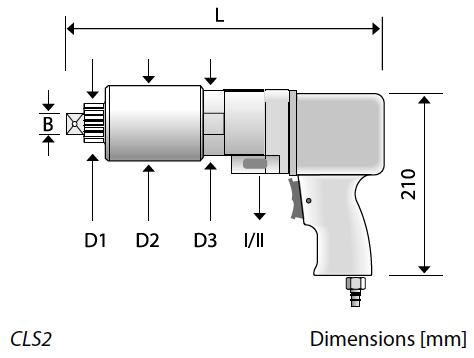 Kích thước vật lý của bộ nhân lực 2 trong 1. CLS2 Series. Alkitronic