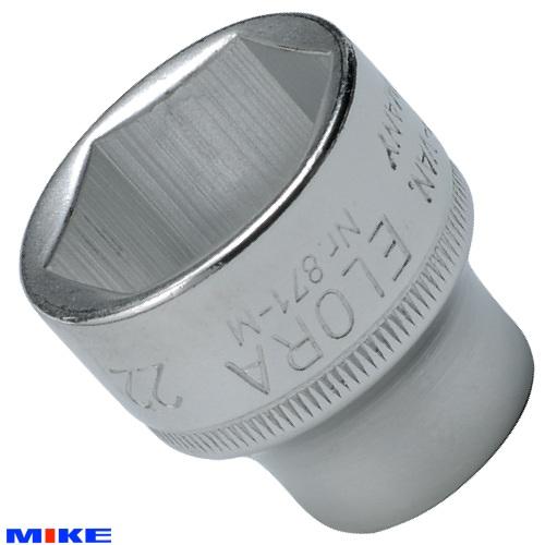 """871-M Đầu tuýp hệ mét ELORA, vuông 3/8"""", socket 6 cạnh từ 6 - 24mm."""