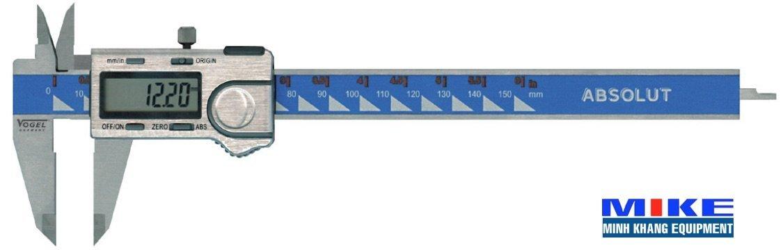 Thước cặp điện tử 300mm Absolute, ±0.01mm, đo trị tuyệt đối. Vogel Germany