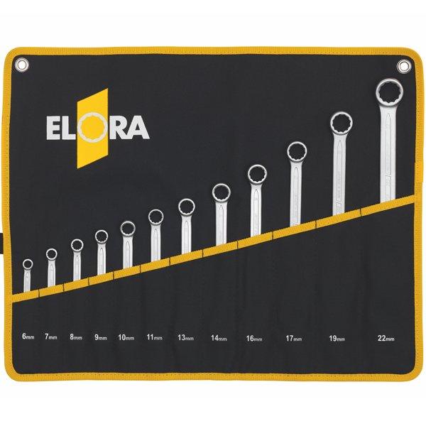 Bộ cờ lê vòng miệng loại ngắn 8-22 mm, 8 món ELORA 203S 8MT, Made in Germany.