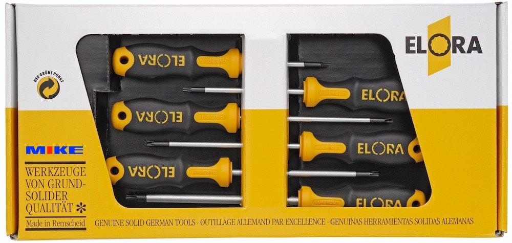 Bộ tô vít 6 món ELORA 760 STX-6K-1, bộ tô vít đựng trong hộp carton. Made in Germany.