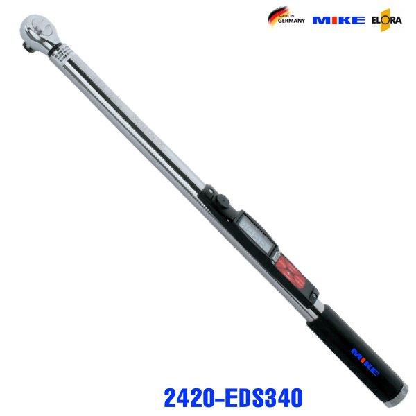 Cờ lê lực điện tử 34-340Nm - Digital Torque Wrenches. Elora Germany.Cho phép lưu trữ kết quả đo.Thang đo hoán chuyển Nm, ft-lb hoặc in-lb. Kết nối máy vi tính qua cổng RS232. Có đèn tín hiệu trạng thái.