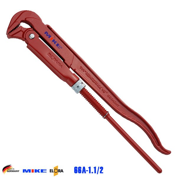 Mỏ lết ống 400mm ngàm 90 độ ELORA 66A-1.1/2. Độ mở ngàm 55mm. Pipe Wrench.