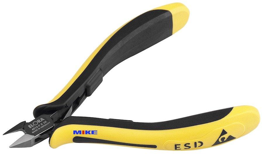 Kìm cắt chân linh kiện điện tử 4510-FE2K. Electronic side cutter ESD. Elora Germany.