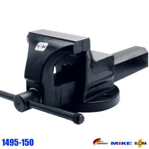 Ê tô xoay 115mm ELORA 1594-115, độ mở ngàm 140mm, ngàm kẹp song song.