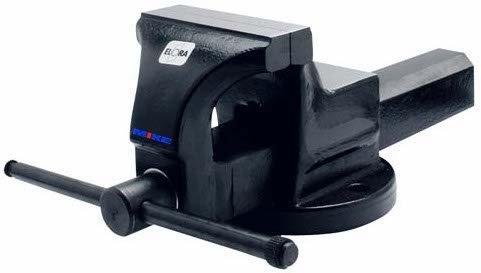 Ê tô xoay 115mm ELORA 1594-115, độ mở ngàm 140mm, ngàm kẹp song song. Made in Germany.