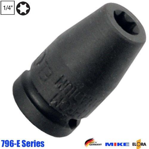 Đầu tuýp đen hình sao vuông 1/4 inch, Impact Socket. ELORA Germany.