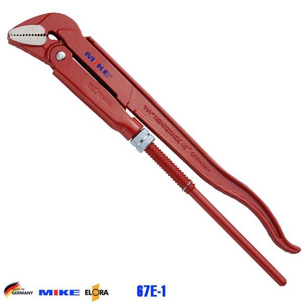 Mỏ lết ống 320mm ngàm 45 độ ELORA 67E-1. Độ mở ngàm 40mm. Pipe Wrench.