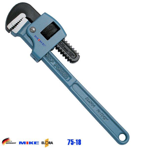 Mỏ lết răng 18 inch ELORA 75-18. Độ mở ngàm 61mm. Pipe Wrench