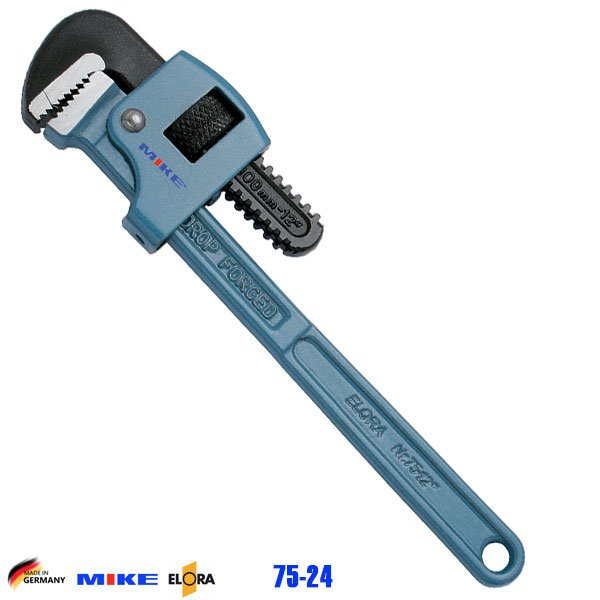 Mỏ lết răng 24 inch ELORA 75-24. Độ mở ngàm 77mm. Pipe Wrench