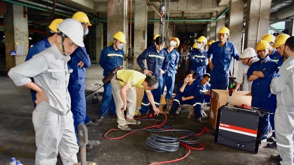 Bàn giao máy MF Quick Heater tại nhà máy Thép Hòa Phát