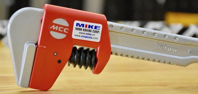 Mỏ lết nhôm không răng. Toothless-Spud-Wrench-TWMA-260. MCC Japan.