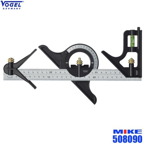 Bộ thước đo góc vạn năng, cấu thành từ 4 phần khác nhau.Thước EKE vạn năng có thể đọc chỉ số cả 2 đầu, 2 chiều của thước.Thước có mực nước căn bằng, các góc thay đổi theo hiện trạng đo.Thước đo góc đi kèm cả cơ cấu định tâm.