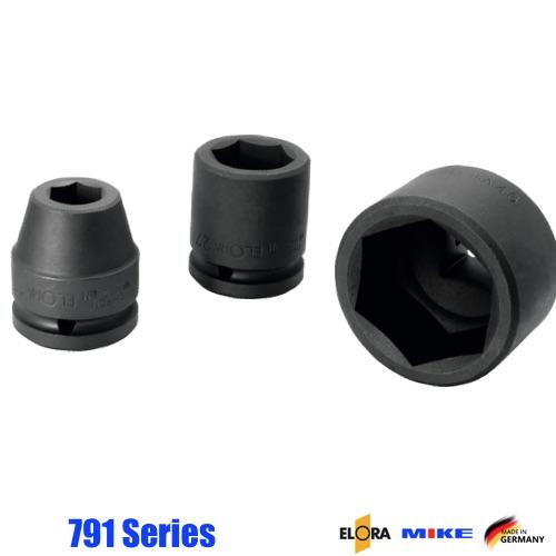 791 Series đầu tuýp đen 6 cạnh vuông 3/4 inch, Impact Socket ELORA