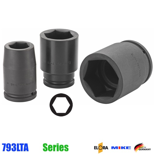 793LT Đầu tuýp đen hệ inch vuông 1.1/2 inch, 6 cạnh, Impact Socket