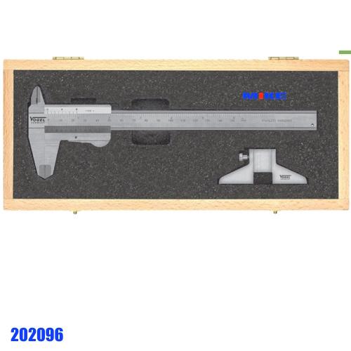 202096 bộ thước cặp cơ 150mm và dưỡng đo độ sâu 75mm