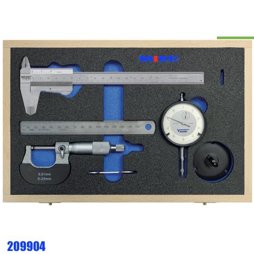 Bộ panme thước cặp đồng hồ so, thước lá. Measuring Tool Set.