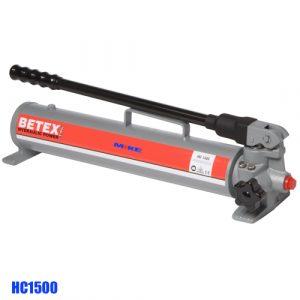 Bơm thủy lực bằng tay BETEX HC1500, dung tich 1,5 lit. Áp suất max 700 bar.