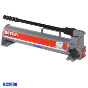 Bơm thủy lực bằng tay 2000ml, vỏ thép. BETEX HC2000. Áp suất làm việc 700 bar.