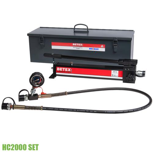 Bộ bơm tay thủy lực BETEX HC2000 đủ phụ kiện. Bơm thủy lực bằng tay. Hydraulic hand pump. BETEX Hà Lan, Giao hàng toàn quốc. BH 12 tháng.