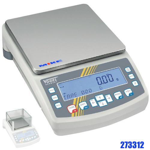 Cân phân tích 3500g, độ nhạy ± 0.01g, bàn cân 195x195mm.