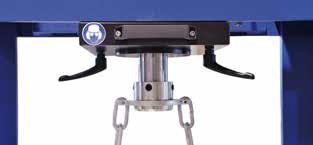 Điều chỉnh bàn ép thủy lực và không gian thao tác - Work Surface Adjustment