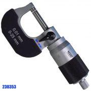 Panme cơ đo ngoài 50 - 75mm, độ chính xác 0.01mm. External Micrometer.Thiết kế dễ cầm khi thao tác đo, kiểu dáng thông dụng. Khung sườn bằng hợp kim, bọc ngoài phần khung C.Trục đo được gia công bằng thép hợp kim, siêu cứng, chống mài mòn.