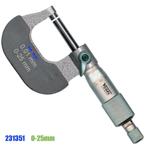 231351 panme cơ đo ngoài từ 0-25mm. Vogel Germany.