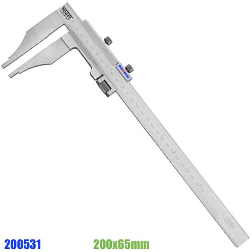 Thước cặp cơ 200mm ngàm cặp 65mm. Thước kẹp 200x65mm.