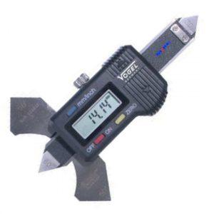 Thước đo mối hàn điện tử 0-20mm. Digital Welding Gauge - Vogel Germany.Thước đo chiều cao mối hàn hiển thị số, khóa hành trình bằng vít.Thước thích hợp cho cả đo đường hàn trên mặt phẳng và trong góc vuông.Trên thước có sẵn ngưỡng tỳ cho từng trường hợp đo.Vật liệu thước bằng Stainless Steel.