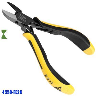 Kìm cắt linh kiện 4550-FE2K, lưỡi cắt vát mép đối xứng. Kìm tĩnh điện ESD.
