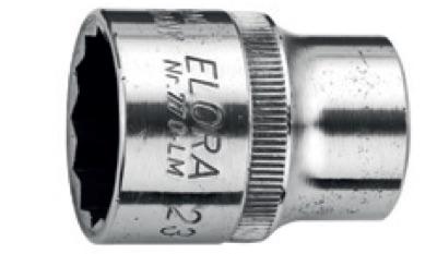 Đóng thương hiệu và kích thước cho đầu tuýp ELORA Germany.