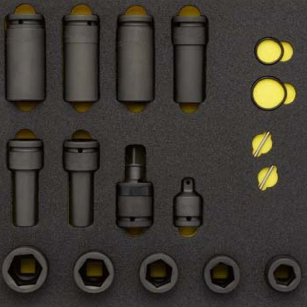 Bộ đầu tuýp đen 3/4 inch. ELORA OMS-23. Bộ 17 món. Dụng cụ cho tủ đồ nghề.