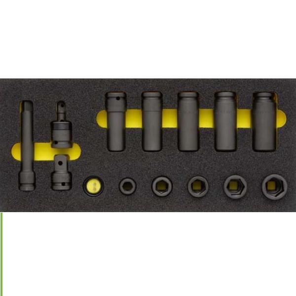 Bộ đầu tuýp đen 1/2 inch. ELORA OMS-24. Bộ 17 món. Dụng cụ cho tủ đồ nghề.