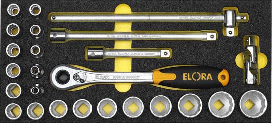 OMS 3 bộ khẩu 1/2 inch bao gồm các size thông dụng cho tủ dụng cụ