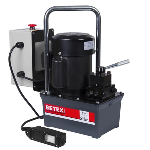 Bơm thủy lực dùng điện BETEX EP13D, bơm tác động kép, dung tích 3 lít, áp suất 700 bar.